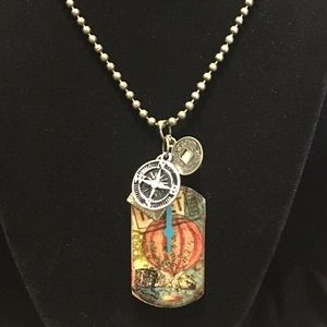 Jewelry - Steampunk/Victorian Dog Tag Travel Necklace